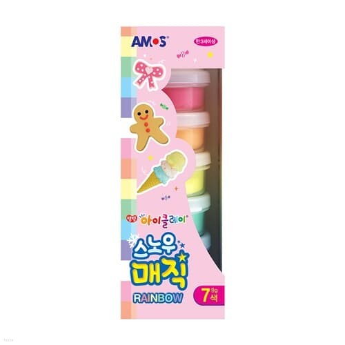 아모스 스노우매직 레인보우세트 7색