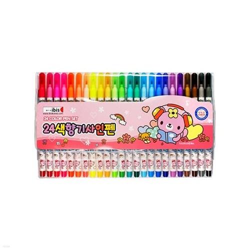 아이비스 7000 24색향기사인펜(CR)-핑크