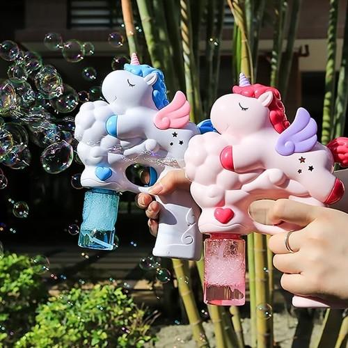 키저스 유니콘 자동 비눗방울놀이 야외 장난감 터보 익스트림 파워 버블건
