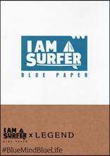 I am A Surfer Blue paper