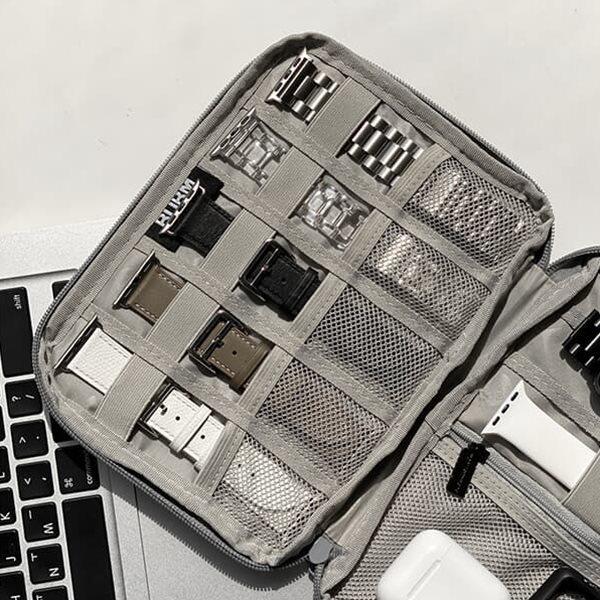 애플워치 스트랩 악세사리 보관함 베이직 파우치 2color