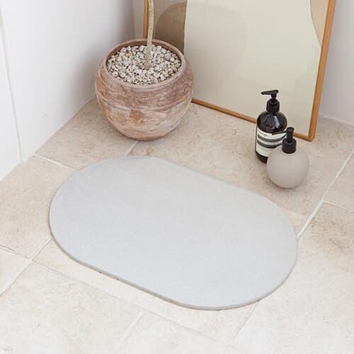 라운드 규조토 발매트 주방 욕실 화장실 현관 발닦개 M