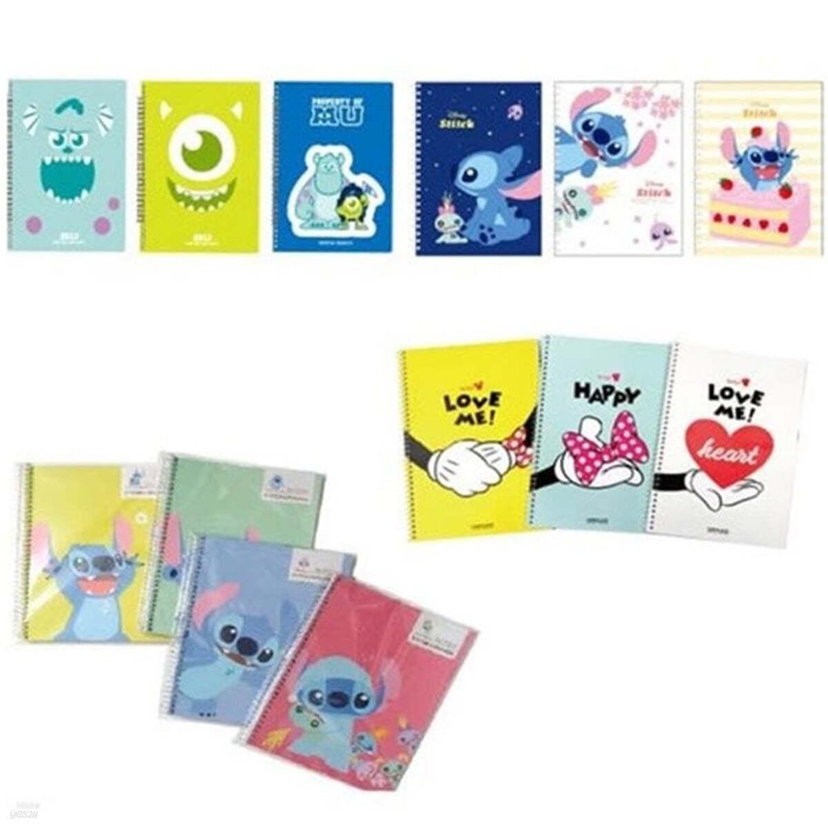 [1+1]디즈니 캐릭터 스프링 연습장 럭키 랜덤박스 10권