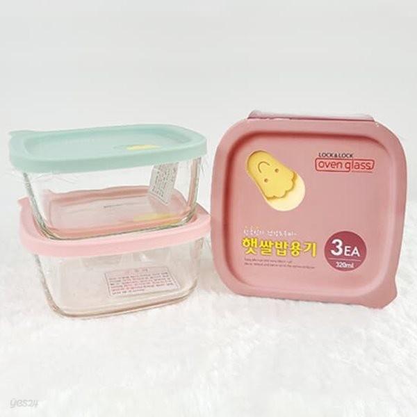 락앤락 오븐글라스 햇쌀밥용기 320ml 3개 1세트 LLG501S3