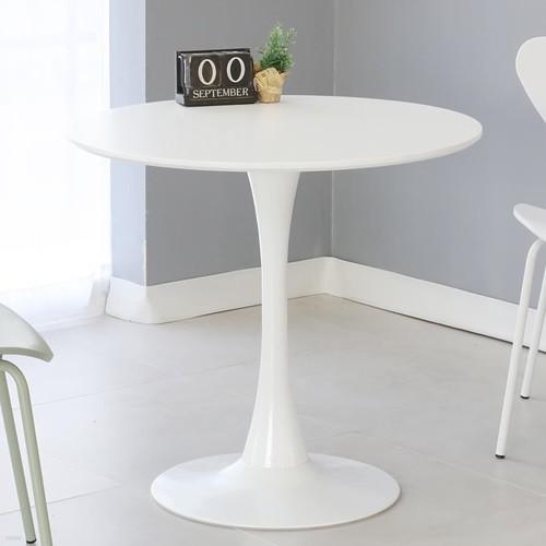 더조아가구 유니테이블 800원형 화이트 식탁 라운드테이블 노트북테이블 카페용테이블 티테이블 업소용테이블