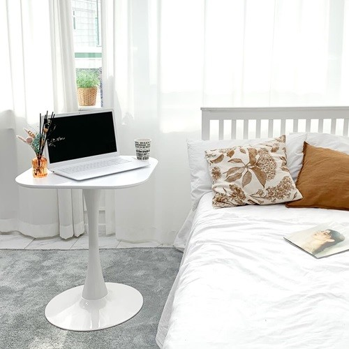 더조아가구 유니테이블 600사각 화이트 식탁 라운드테이블 노트북테이블 카페용테이블 티테이블 업소용테이블