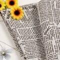 빈티지 영어 영자 신문 촬영용 배경천 [사진 촬영 스튜디오 쇼핑몰 제품 배경 소품]