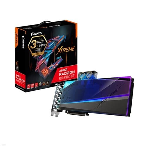 GIGABYTE AORUS RX 6900 XT Xtreme 워터블럭 D6 16GB