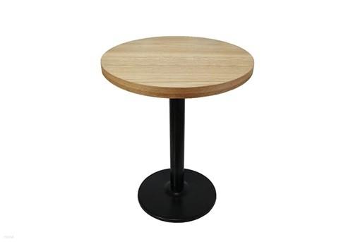 더조아가구 무늬목원형티테이블600철재3인치다리 네추럴 라운드테이블 노트북테이블 카페용테이블 티테이블 업소용테이블