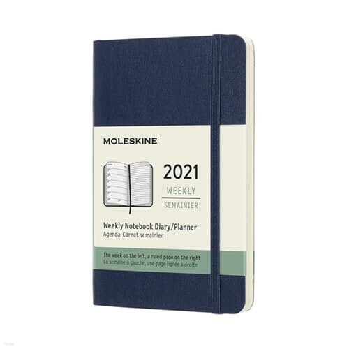 [몰스킨] 2021 위클리 사파이어블루 소프트 P