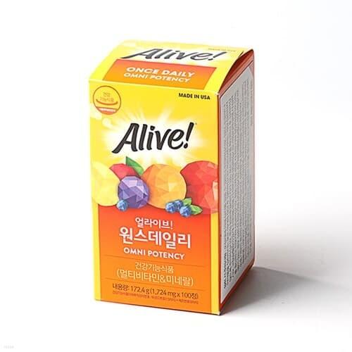[얼라이브] 원스 데일리 멀티비타민 (1745mg x 100정)