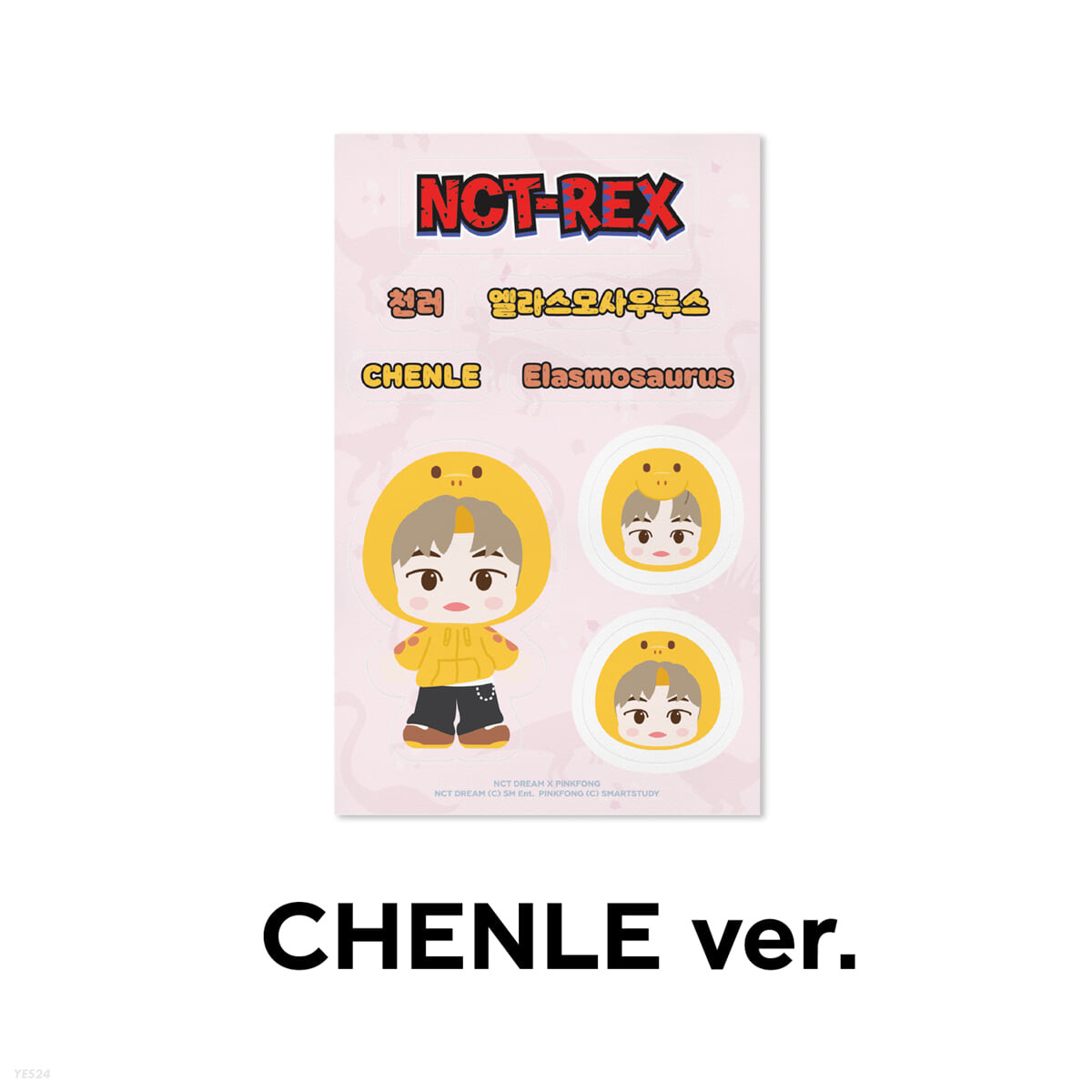 [CHENLE] REMOVABLE LUGGAGE STICKER - NCT DREAM X PINKFONG
