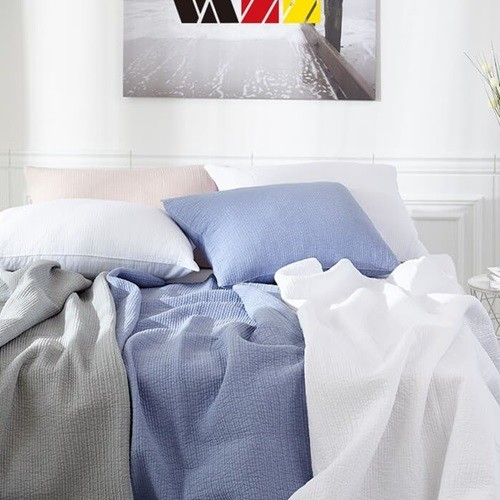 [VAZZ] 바즈 션 피그먼트 줄누비 스프레드 대형 150 x 200cm/색상택일:아이보리,연그레이,인디핑크,딥블루