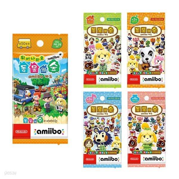 [닌텐도 아미보]튀어나와요 동물의숲 아미보플러스카드(20개/1박스) +동물의숲 아미보 카드(1~4탄 선택1종 50개/1박스)패키지