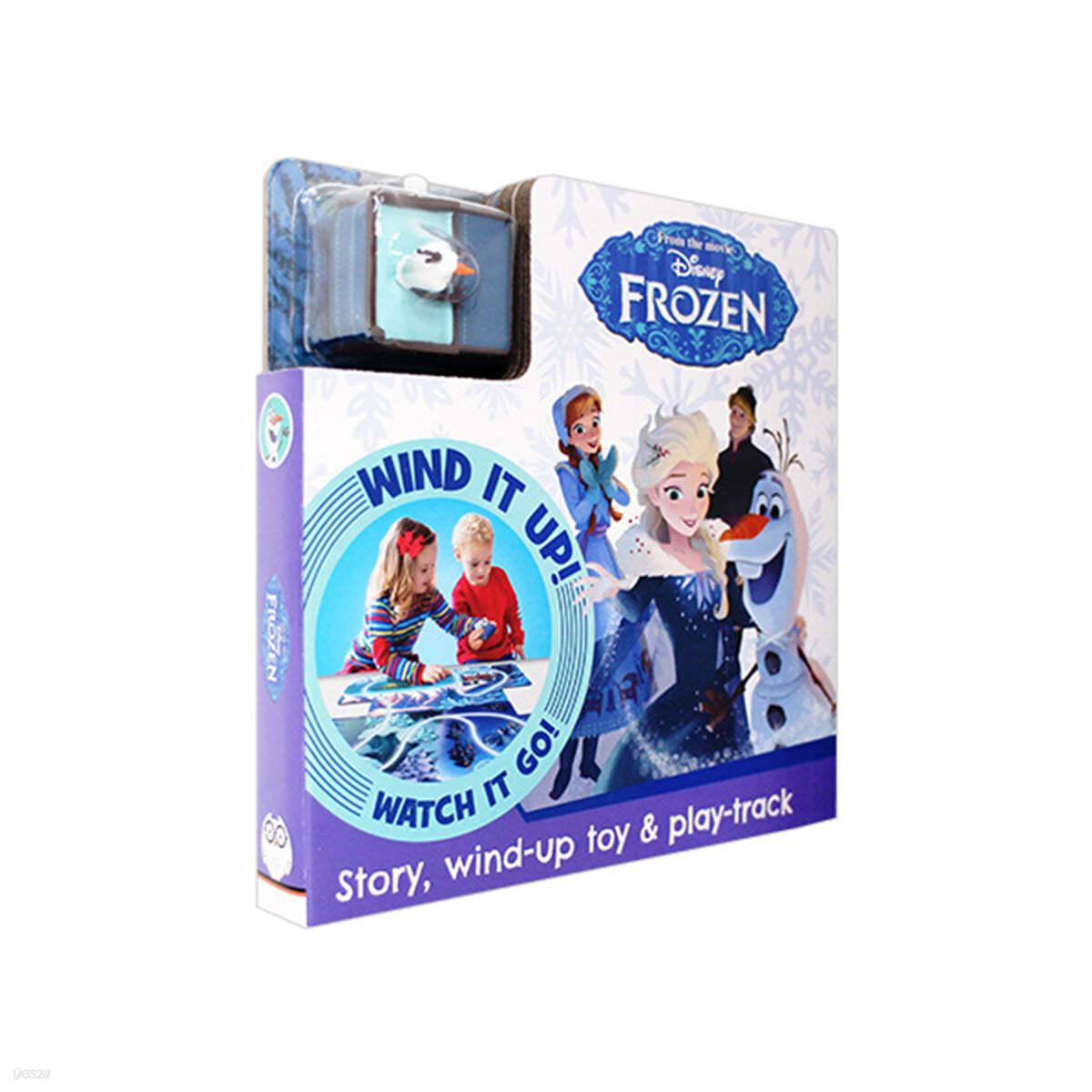 [스크래치 특가] Disney Frozen Story, Wind-Up Toy & Play-Track