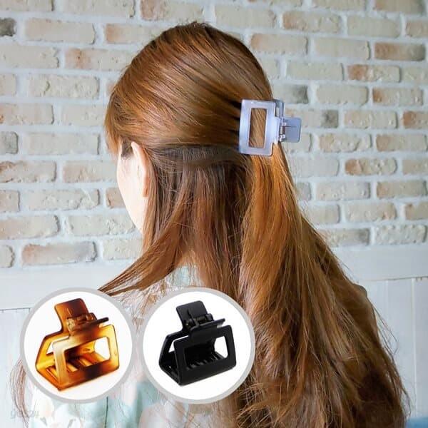 사각 아이스컬러 무광 소형 올림머리 집게핀 10colors