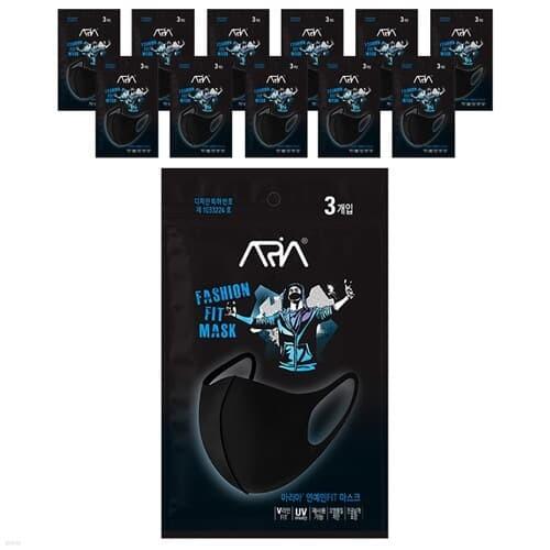 아리아 연예인 핏 마스크 3매입 X 12팩