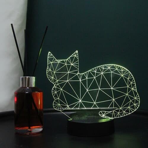 플렌느 인테리어 LED 아크릴 무드등 디퓨저 블랙체리 고양이 외