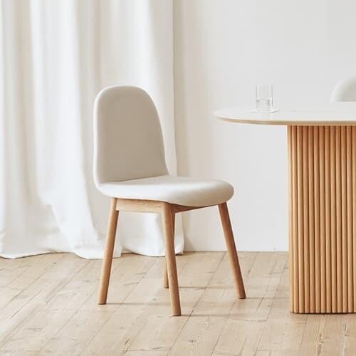 마리 이지클린 피노 패브릭 체어 카페 편한 사무실 식탁 의자 2color