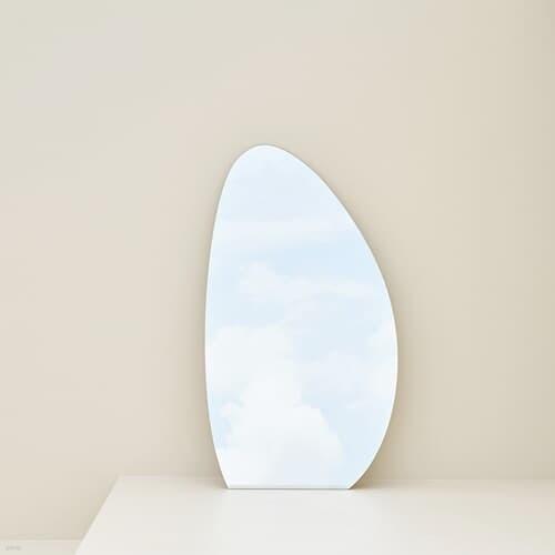 노프레임 비정형 스탠드 미러 대형 탁상 전신 거울 2size
