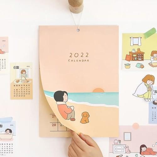 2022 일상 벽걸이 달력 (A4,포스터 캘린더)