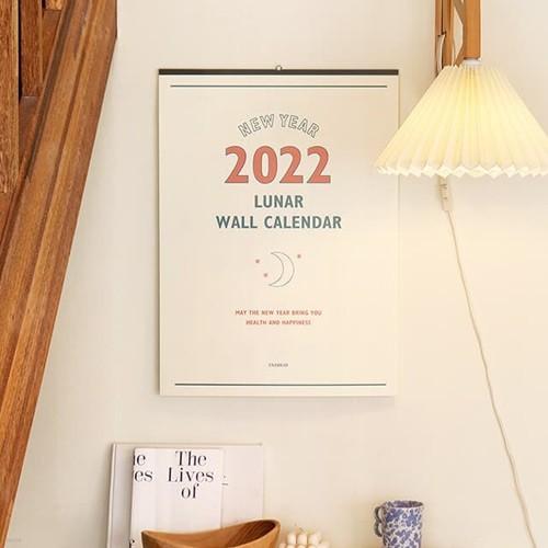 2022 루나 벽걸이 음력달력 - 레트로 달력 (대형) 캘린더