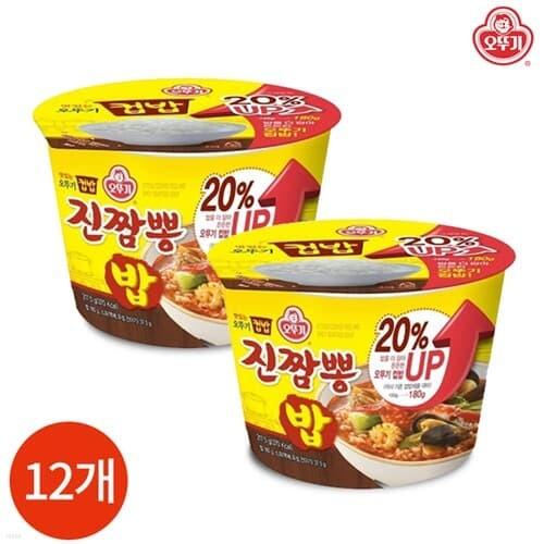 오뚜기 컵밥 진짬뽕밥 217.5g x 12개