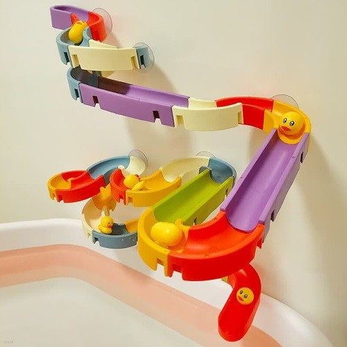 키저스 워터 슬라이드 블록 유아 블럭 오감 목욕 물 놀이 교구 장난감