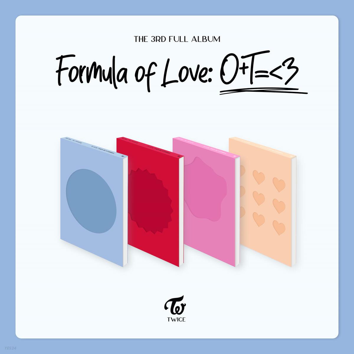 트와이스 (TWICE) 3집 - Formula of Love: O+T=<3 [4종 중 1종 랜덤 발송]