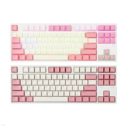 앱코 KN01C 텐키리스 PBT 무접점 키보드 (핑크, 45g)