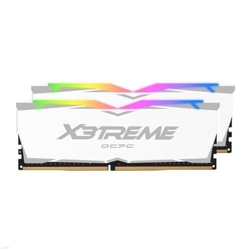 OCPC DDR4-3200 CL16 X3TREME RGB White 64GB(32Gx2)