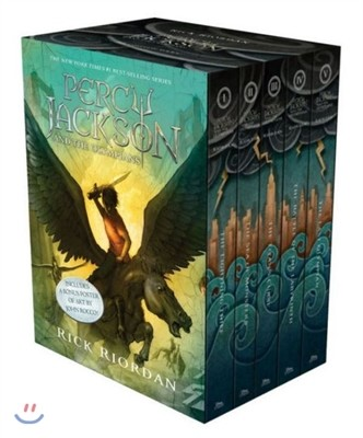Percy Jackson and the Olympians 5 Book Paperback Boxed Set  (미국판)