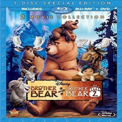 Brother Bear / Brother Bear 2 (브라더 베어) (3-Disc Special Edition) (한글무자막)(Blu-ray / DVD) (2013)
