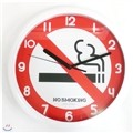Please~No smoking! design wall clock