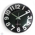 Metal Glass Dome Black wall clock