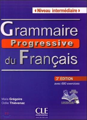Grammaire progressive du francais Niveau Intermediaire Livre (+CD)