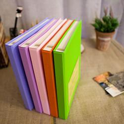[30%할인] Color photo book-black(L)_접착식(화이트내지/25매)
