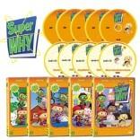 New Super WHY 수퍼와이 1집 10종세트 (DVD 5종 + 오디오CD 5종)