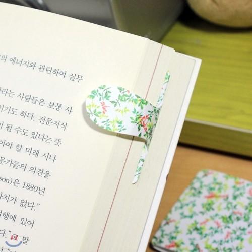 고급플라스틱n자석 [자동책갈피 수지인(手紙印)] 써니패턴(나뭇잎)