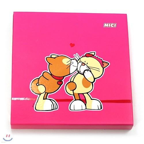NICI 러브캣 노트북-핑크