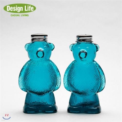 Design Life 곰돌이 소금 후추병 2P세트- 블루