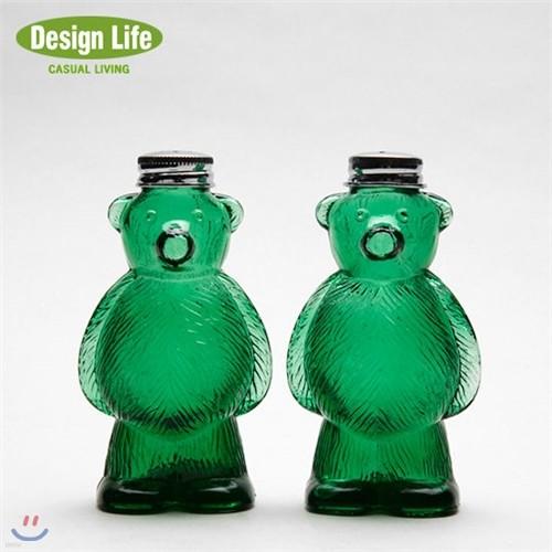 Design Life 곰돌이 소금 후추병 2P세트- 그린