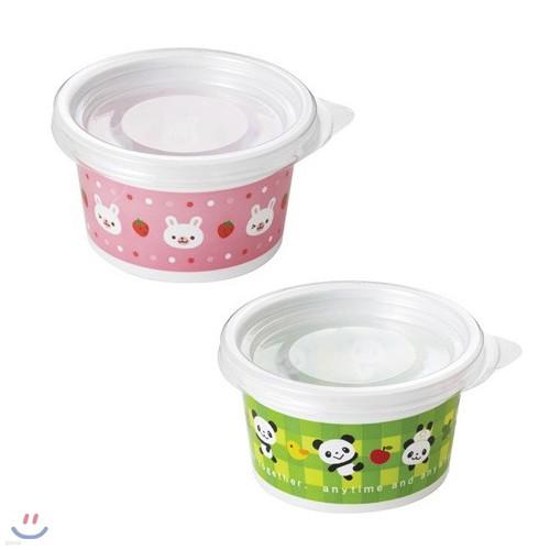 뚜껑부착 프루츠 컵 팬더&토끼