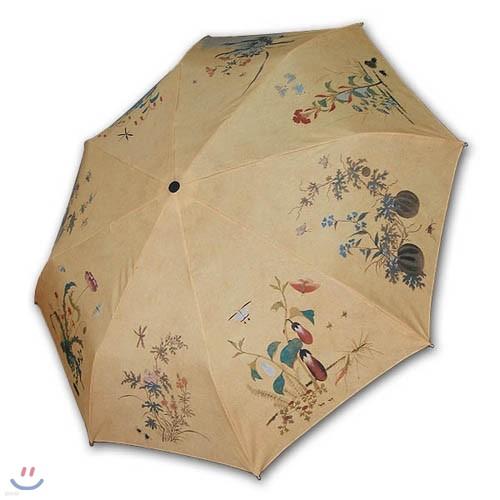 명화_신사임당 초충도 3단자동우산