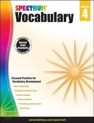 Spectrum Vocabulary, Grade 4