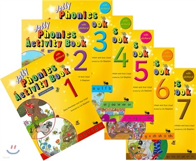 Jolly Phonics Activity Books 1-7 (in print letters)