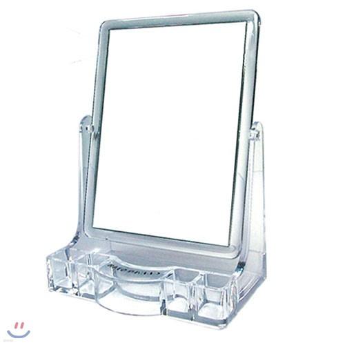 필스토어 사각 양면 화장품 수납형 탁상거울 회전가능 거울 세트
