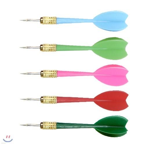 고급 메탈 컬러 디자인 다트핀 5개 세트 dart 다트