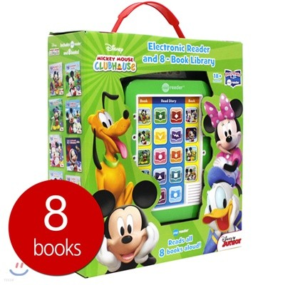 Me Reader & 8 books Library : Disney Mickey Mouse Clubhouse 디즈니 미키 마우스 클럽하우스 미리더 사운드북 (미니 마우스 / 도날드덕 / 구피 / 플루토)