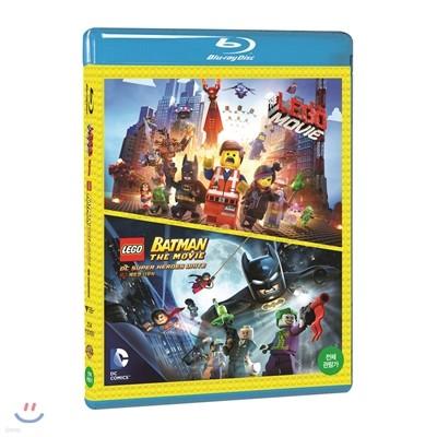 레고무비 & 레고 배트맨 : 더무비 (2Dics 더블팩) : 블루레이